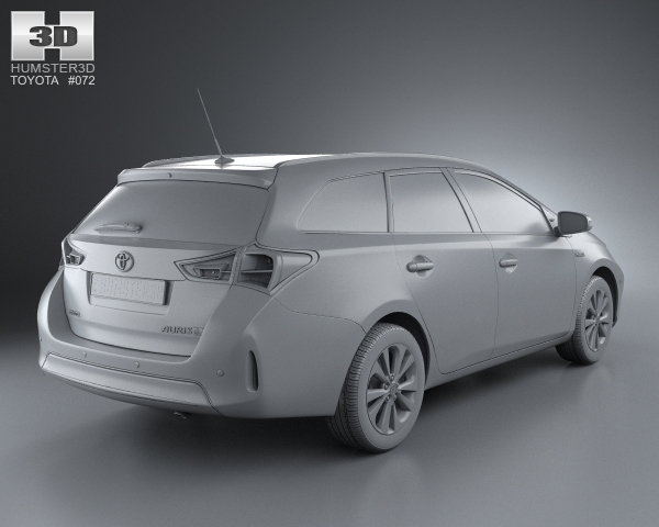 toyota auris touring hybrid 2013 3d model. Black Bedroom Furniture Sets. Home Design Ideas