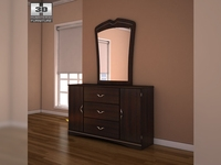 Ashley Julianna Dresser & Mirror 3D Model