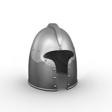 Armor Helmet and Shield 3D Model
