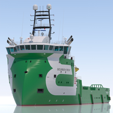 Platform Supply Vessel BOURBON FRONT 3D Model