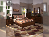 Ashley Nico Panel Bedroom Set 3D Model