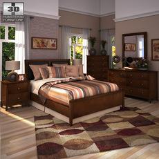 Ashley Nico Panel Bedroom Set 3D Model