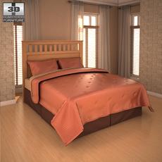 Ashley Panel Bed 3D Model