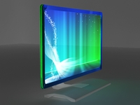 Free LCD Monitor 3D Model