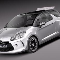 Citroen DS3 Cabrio 2013 3D Model