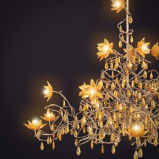 Harco Loor Jewel Chandelier HL15 Amber 3D Model