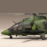 AW109LUH Swedish Air Force 3D Model