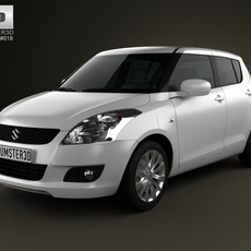 Suzuki Swift hatchback 5-door 2012 3D Model
