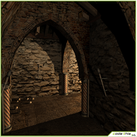 Low Poly Medieval Secret Labyrinth 3D Model