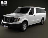 Nissan NV Passenger Van Standard Roof 2013 3D Model