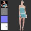 07 57 25 467 girl blue dress 3d model 5 4