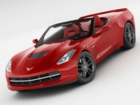 Chevrolet Corvette Stingray convertible 3D Model