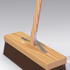 Garden Broom 01 3D Model