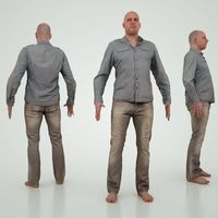 Male Character Jeans 3D Model