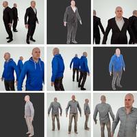 3 male models 3D Model