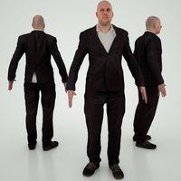 Male in Costume 3D Model