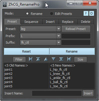 ZhCG_renamePro 1.5.4 for Maya (maya script)