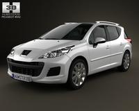 Peugeot 207 SW 2012 3D Model