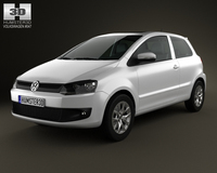 Volkswagen Fox 3-door 2012 3D Model