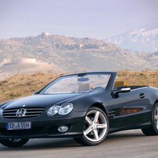 Mercedes Benz sl350 r230 cabrio 3D Model