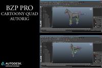BZP, PRO Cartoony Quad Autorig 0.0.1 for Maya (maya script)