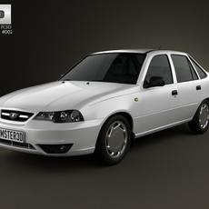 Daewoo Cielo (Nexia, Heaven, Racer) 2012 3D Model