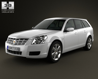 Cadillac BLS wagon 2009 3D Model