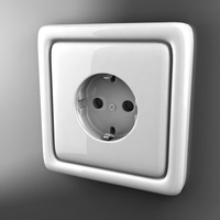 Electric outlet 3D Model
