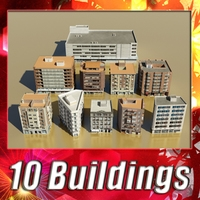 10 Building Collection 3D Model