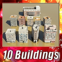 Building Collection 11 - 20 3D Model