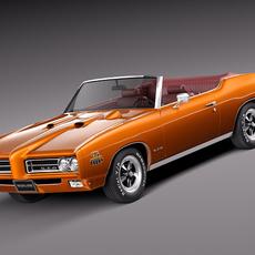Pontiac GTO 1969 Convertible 3D Model