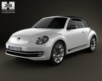 Volkswagen Beatle convertible 2013 3D Model