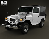 Toyota Land Cruiser (J40) Canvas Top 1979 3D Model