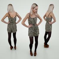 Panther Dress Girl 3D Model