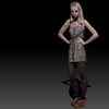 08 06 06 669 tiger panter dress blond girl 3d model wireframe 4