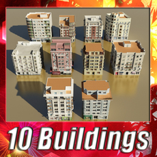 Building collection 4 3D Model