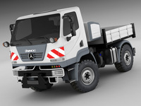 Mercedes Unimog U20 3D Model