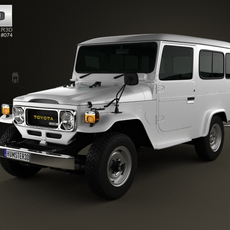 Toyota Land Cruiser (J40) Hard Top 1979 3D Model