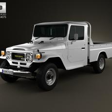 Toyota Land Cruiser (J40) Pickup 1979 3D Model