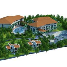 moutain resort hotel 3D Model