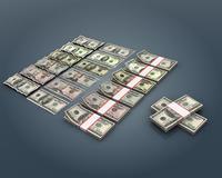 US Dollar Bill Collection 3D Model
