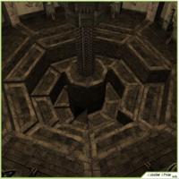 Low-Poly Room With Secret Passage 3D Model
