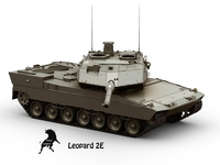 Leopard 2E 3D Model