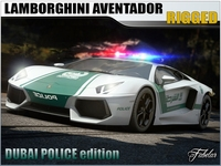Aventador Dubai police 3D Model