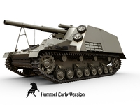 Sd.Kfz 165 Hummel Early version 3D Model