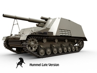 Sd.Kfz. 165 Hummel Late version 3D Model