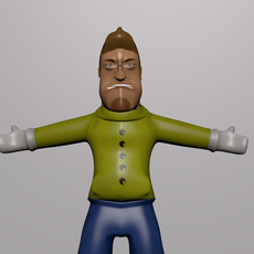 Cartoon Worker 3D Model