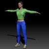 08 10 49 937 photorealistic 3d girl green leather jacket blue pants cute sexy woman avatar 3d full body scan 360 4 4