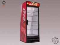CocaCola Refrigerator 3D Model
