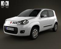 Fiat Uno Attractive hatchback 5-door 2013 3D Model